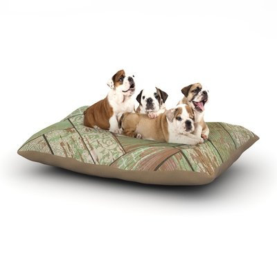 East Urban Home Heidi Jennings 'Patina' Wood Dog Pillow with Fleece Cozy Top Size: Small (40