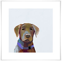 Oopsy Daisy 'Best Friend - Brown Lab' by Cathy Walters Painting Print Size: 21