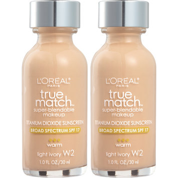 L'Oreal® Paris True Match™ Warm Light Ivory W2 Super-Blendable Makeup 2-1 fl. oz. Glass Bottles