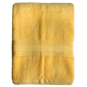 Homewear Linens Riviera Bath Towel Color: Yellow