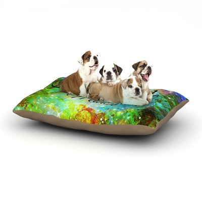 East Urban Home Ebi Emporium 'Fly Me to the Moon' Dog Pillow with Fleece Cozy Top Size: Large (50