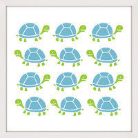 Marmont Hill Inc Marmont Hill - 'Turtle Stamp' by Shayna Pitch Framed Painting Print