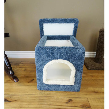 New Cat Condos Premier Litter Box Enclosure Color: Blue