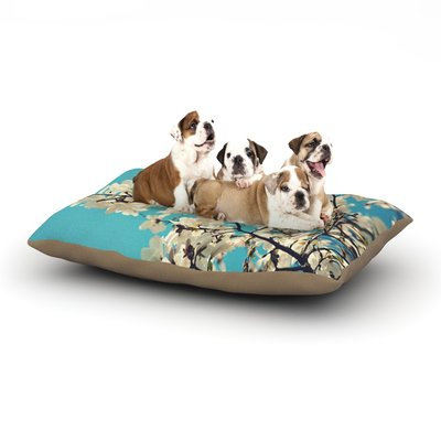 East Urban Home Sylvia Cook 'White Magnolias' Dog Pillow with Fleece Cozy Top Size: Large (50