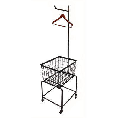 Wilco Home Metal Rolling Laundry Cart Finish: Black