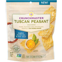 Crunchmaster™ Tuscan Peasant Simply Olive Oil & Sea Salt Crackers 3.54 oz. Pouch