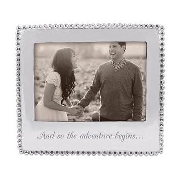 Mariposa And So the Adventure Begins Beaded Picture Frame