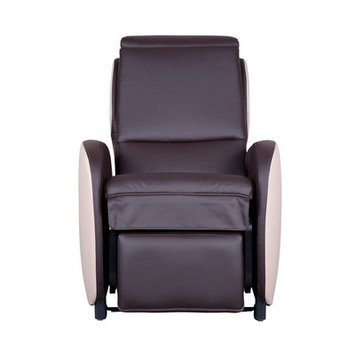 Latitude Run Massage Chair with Footrest Upholstery: Americana/Ivory