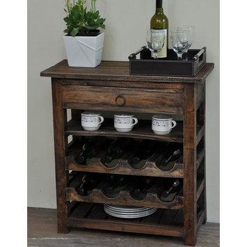 August Grove Torrington Shabby Elegance 8 Bottle Floor Wine Rack