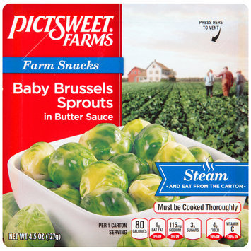 Pictsweet Farms® Farm Snacks Baby Brussels Sprouts in Butter Sauce 4.5 oz. Carton