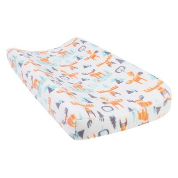 Test Trend Lab Woodland Moose Plush Changing Pad Cover, Orange