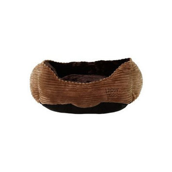 Happy Tails Luxurious Corduroy Dog Cuddler Color: Brown