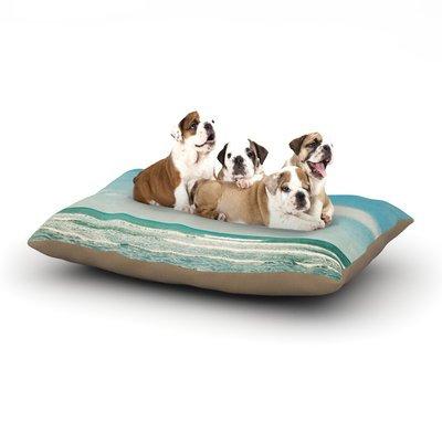 East Urban Home Susannah Tucker 'The Teal Ocean' Dog Pillow with Fleece Cozy Top Size: Small (40