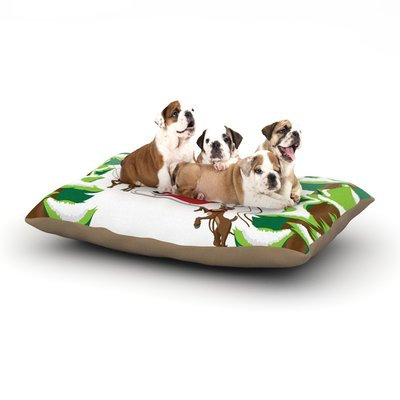 East Urban Home KESS Original 'Forest Sleigh Scene' Holiday Illustration Dog Pillow with Fleece Cozy Top Size: Small (40