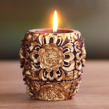 Novica Floral Vase Pillar Candle Size: 4