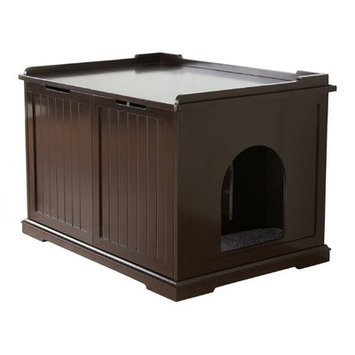 Trixie Litter Box Enclosure Color: Brown