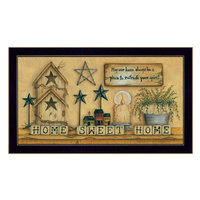 Trendy Decor 4u 'Home Sweet Home' by Mary June Framed Graphic Art