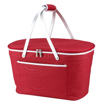 Beachcrest Home Collapsible Basket Cooler Color: Red