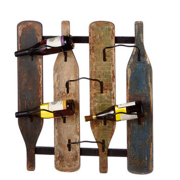 August Grove Circle 6 Bottle Wall Mounted Wine Bottle Rack