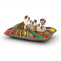 East Urban Home Roberlan 'Doodle' Abstract Dog Pillow with Fleece Cozy Top Size: Large (50