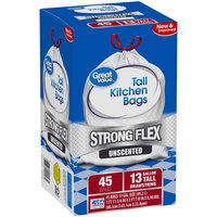 Great Value™ Flex 13 Gallon Unscented Trash Bags 45ct Box