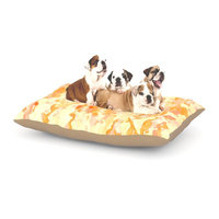 East Urban Home CarolLynn Tice 'Explosion' Dog Pillow with Fleece Cozy Top Size: Small (40