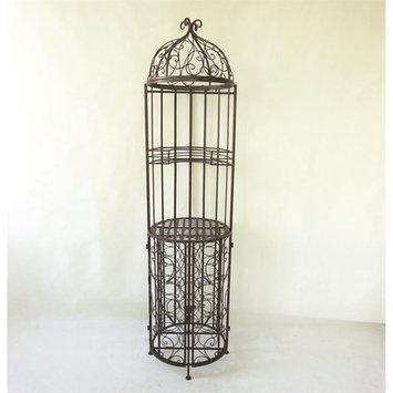 August Grove Linden Birdcage Design Floor Wine Bottle Rack