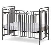 La Baby Trinity Metal 3-in-1 Convertible Crib Finish: Pebble Gray