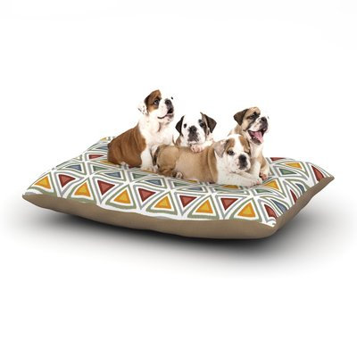 East Urban Home Julia Grifol 'Ikat Triangles' Dog Pillow with Fleece Cozy Top Size: Small (40