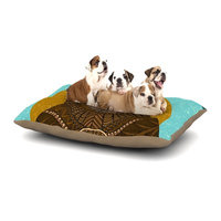 East Urban Home Art Love Passion 'Bear in Grass' Dog Pillow with Fleece Cozy Top Size: Large (50