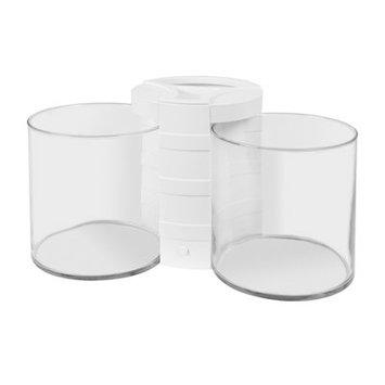 Eliv 0.5 Gallon Betta Cylinder and Planter Aquarium Bowl Color: White