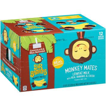 Sir Bananas® Monkey Mates™ Chocolate & Real Bananas Lowfat Milk 12-8 fl. oz. Aseptic Packs