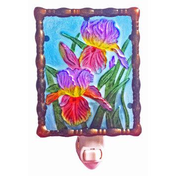 Glass Irises Night Light
