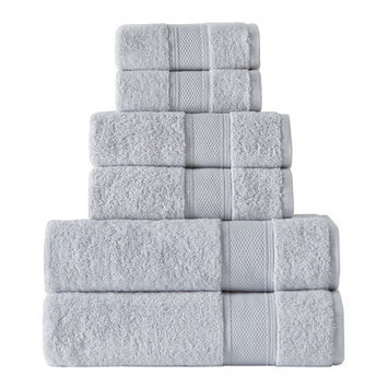 Rokahome 6 Piece Bath Towel Set Color: Smoke