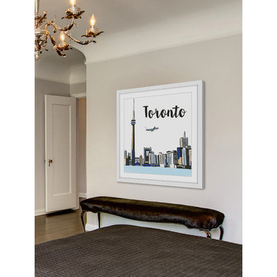 Marmont Hill Inc Marmont Hill - 'Toronto Lakeview' by Molly Rosner Framed Painting Print