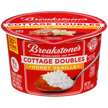 Breakstone's Cottage Doubles Cottage Cheese & Honey Vanilla Topping 4.7 oz. Tub