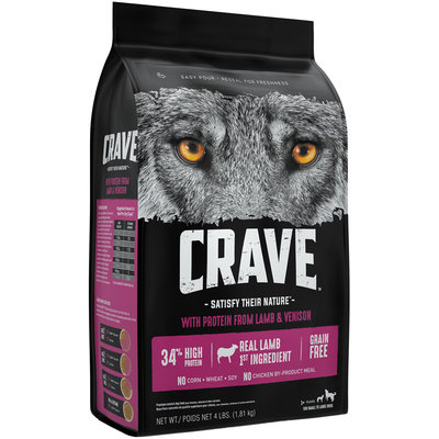 Crave™ with Protein from Lamb & Venison Premium Dog Food 4 lb. Bag