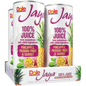 Dole® Jaya™ Pineapple, Passion Fruit & Carrot 100% Juice 4-8.4 fl. oz. Cans