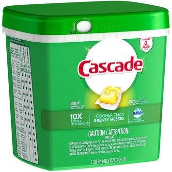 Cascade® Dawn® Lemon Scent Action Pacs™ Dishwasher Detergent 90 ct Plastic Container