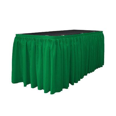 La Linen Table Skirt Color: Jade