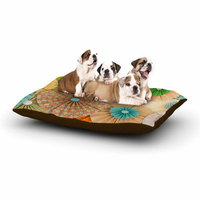 East Urban Home Heidi Jennings 'Summer Party' Dog Pillow with Fleece Cozy Top Size: Large (50