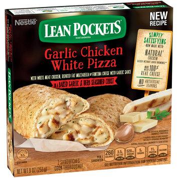 LEAN POCKETS Frozen Sandwiches Garlic Chicken White Pizza 9 oz. Box