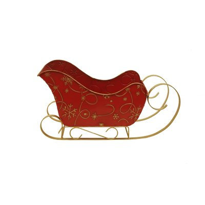 Wald Imports 4556LG Large Red Metal Sleigh