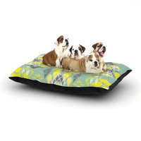 East Urban Home Miranda Mol 'Joyful Teal' Dog Pillow with Fleece Cozy Top Size: Small (40