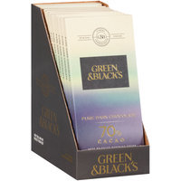 Green & Black's 70% Cacao Pure Dark Chocolate 12-3.17 oz. Bars