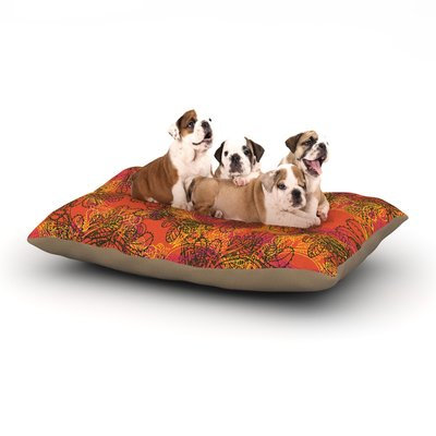 East Urban Home Patternmuse 'Jaipur Orange' Dog Pillow with Fleece Cozy Top Size: Small (40