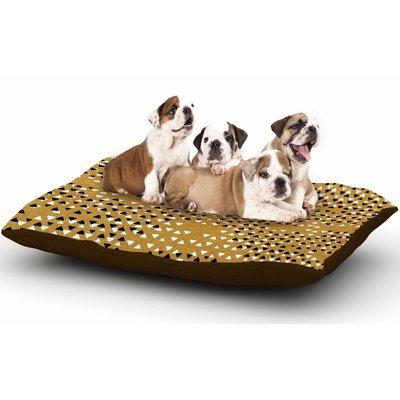 East Urban Home Pom Graphic Design 'Golden Sky' Dog Pillow with Fleece Cozy Top