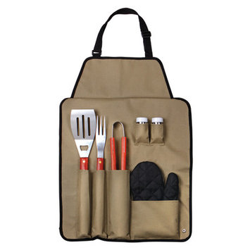 Freeport Park 7 Piece BBQ Apron and Utensil Set