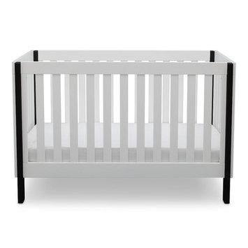 Delta Children Bellevue 3-in-1 Convertible Crib - Bianca with Ebony