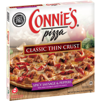 Connie's® Pizza Spicy Sausage & Peppers Classic Thin Crust Pizza 24.29 oz. Box